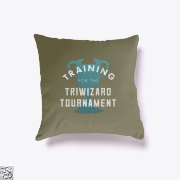Training Triwizard Tournament, Harry Potter Throw Pillow Cover