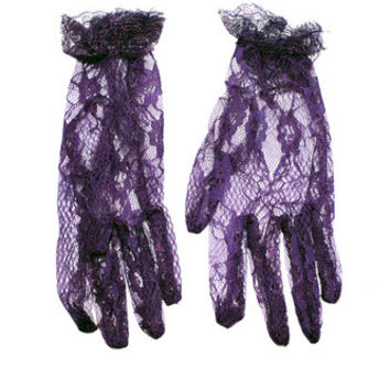 LACLA09 - Short Lace Finger Glove | Accessories Golden Steampunk | Phaze Clothing