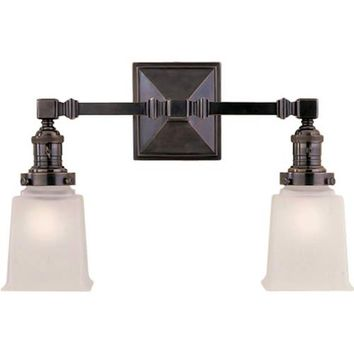 Visual Comfort and Company SL2942BZ-FG Bronze Boston Square Two-Light Fixture