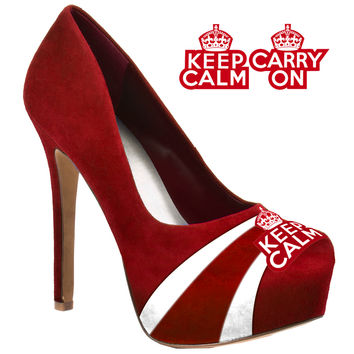 HERSTAR™ Women's Keep Calm Carry On Microsuede Pumps