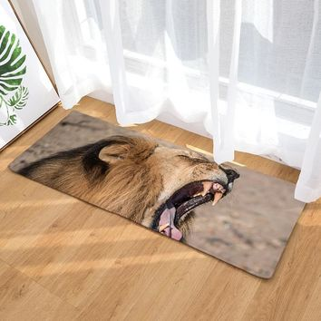 Autumn Fall welcome door mat doormat Hot Sale 3D Printed Animal Lion  Anti-slip Kitchen Carpet Water Absorption Bathroom Floor Mat Long Size  AT_76_7