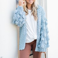 Looking For Fab Cardigan, Misty Blue