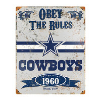Dallas Cowboys NFL Vintage Metal Sign (11.5in x 14.5in)