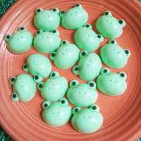 Cucumber Melon Frog Soap Set by LoveLeeSoaps on Etsy