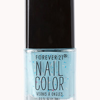 FOREVER 21 Subtle Blue Confetti Nail Polish Blue/Pink One