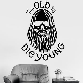 Vinyl Wall Decal Bearded Hippie Peace Man Weed Decor Stickers Mural (ig3343)