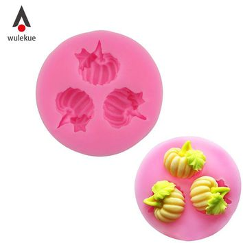 Wulekue Round Pumpkin Shape with Leaf 3D Silicone Cake Mold Pan Baking Tools For Bakeware DIY Cake Tools