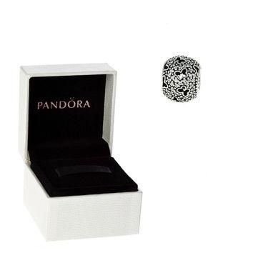 Authentic Pandora S925 Sterling Silver Pave Butterfly Cut-Out Charm Bead w/ Box Free S
