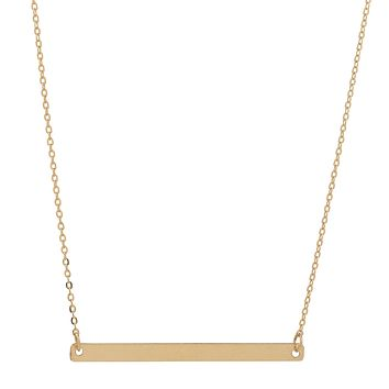 Long Thin Bar Necklace