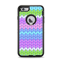 The Bright-Colored Knit Pattern Apple iPhone 6 Plus Otterbox Defender Case Skin Set