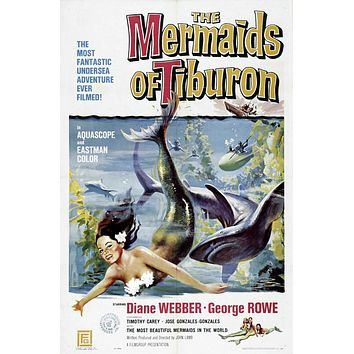 Mermaids of Tiburon 27x40 Movie Poster (1962)