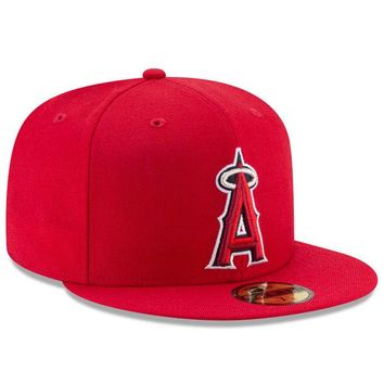 Men's Los Angeles Angels New Era Red Game Authentic Collection On-Field 59FIFTY Fitted Hat
