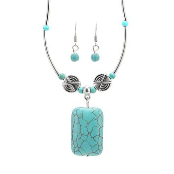 2017 Vintage Necklace and Earring Set Jewelry Necklace with Earring Set for Women Christmas Gift