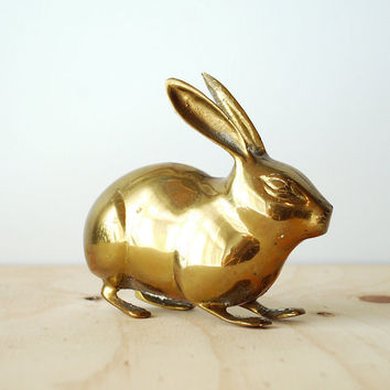 Vintage Brass Rabbit Figure