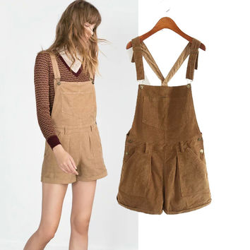 Winter Simple Design Lights Shorts Romper [6315468609]