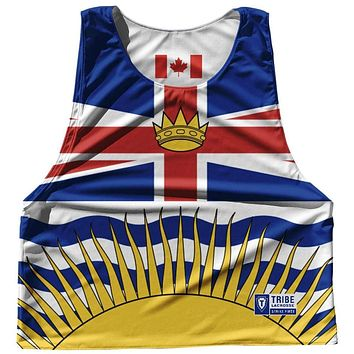 British Columbia Province Flag and Canada Flag Reversible Lacrosse Pinnie
