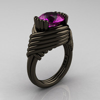 Modern Antique 14K Black Gold 30 Carat Amethyst by artmasters