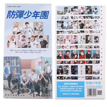 New Kpop Bts Bangtan Boys BTS LOVE YOURSELF TEAR Album Photo Photocards Postcards Poster 180pcs Students