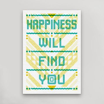 Happiness Will Find You Postcard