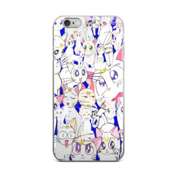 Sailor Moon Cat Artimas Collage iPhone 4 4s 5 5s 5C 6 6s 6 Plus 6s Plus 7 & 7 Plus Case