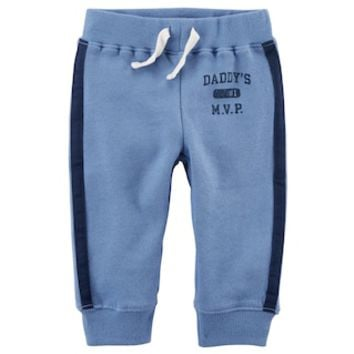 Baby Boy Carter's Striped French Terry Pants | null