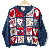 Hearts, Butterflies and Cherries Ugly Valentines Sweater