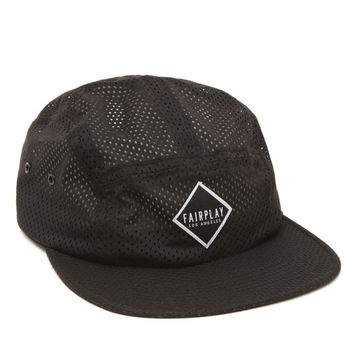 Fairplay Brand Benson Mesh 5 Panel Camper Hat - Mens Backpack - Black - One