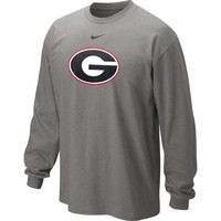Nike Men's University of Georgia Long Sleeve Classic Logo T-shirt