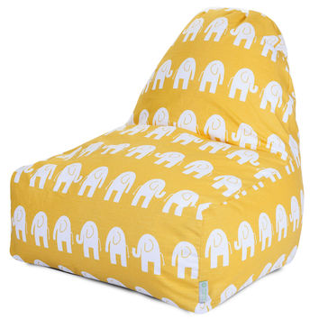 Yellow Ellie Kick-It Chair