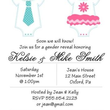 10 Gender Reveal Baby Shower Invitations
