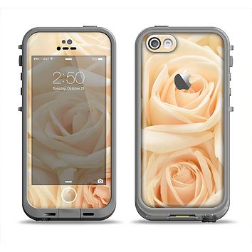 The Subtle Roses Apple iPhone 5c LifeProof Fre Case Skin Set