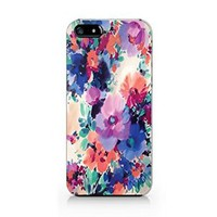 Flower Pattern Plastic Phone Case for Iphone 5 5s