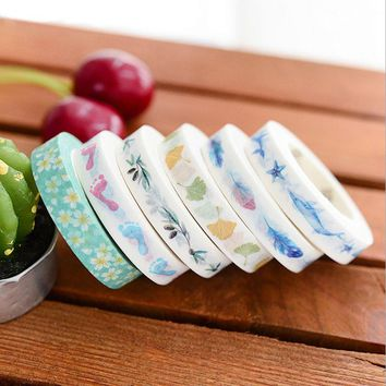 8mm*8m whale Dividing lines paper tape DIY decoration washi tape scrapbooking planner masking tape adhesive tape stationery gift