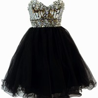 Azaria Style 5420 Black Homecoming Dress