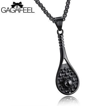 Men's Tennis Pendant Necklace-Hot European Look - Ship Free from Sophie