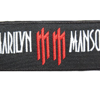 Marilyn Manson Embroidered Iron On Metal Badge Apllique Patch