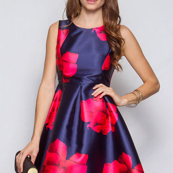 Cocktail Party Dress - Navy