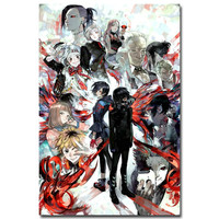 Tokyo Ghoul Anime Art Silk Fabric Poster Print 12x18 13x20 inches Home Decoration Wall Pictures 020