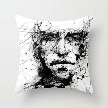 lines hold the memories Throw Pillow by Agnes-cecile