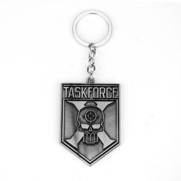 Suicide Squad Keychain Anti Hero Character Keyring Network Game Letter TASK FORCE Key Chain Letter TASKFORCE Key Holder