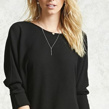 Ribbed Dolman Top