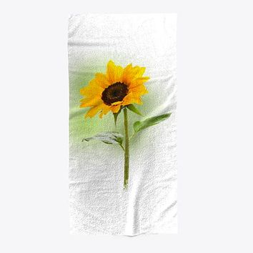 Sunflower Blooming Beach Pool Towel