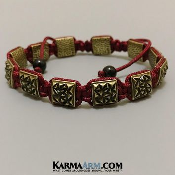 FlatBead Collection: Textured Antique Gold | Red