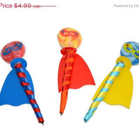 SALE Super Hero Lollipen Lollipop Candy Pen Wedding Party Favor