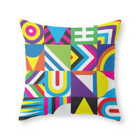 Society6 Rainbobox Throw Pillow