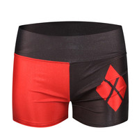 Brand HARLEY QUINN Print Shorts Women Running Shorts Fitness Sports Leisure Elastic Waist Female Casual Yo-Ga Short