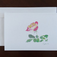 Valentine Card A Rose Pencil Drawing Art Greeting Card Anniversary Card All Occasion Card Home Decor