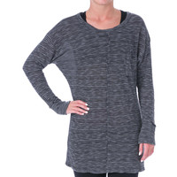 Pure Karma Womens Cahlyn Knit Jewel Neck Casual Top