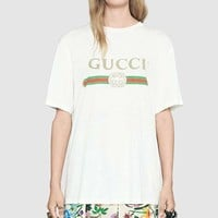 GUCCI Woman Men Fashion Shirt Top Blouse