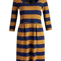 Eden Stripe French Navy Daphne Womens Stripe Tunic  | Joules UK